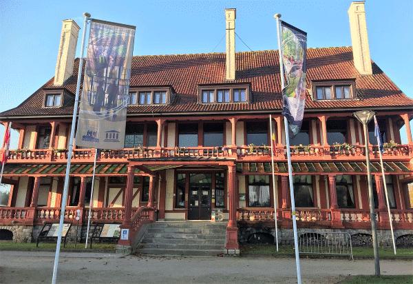 de voorkant in Memorial Museum Passchendaele 1917